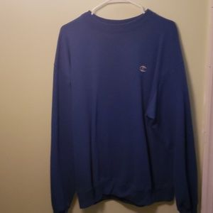 Mens blue Champion crewneck sweater